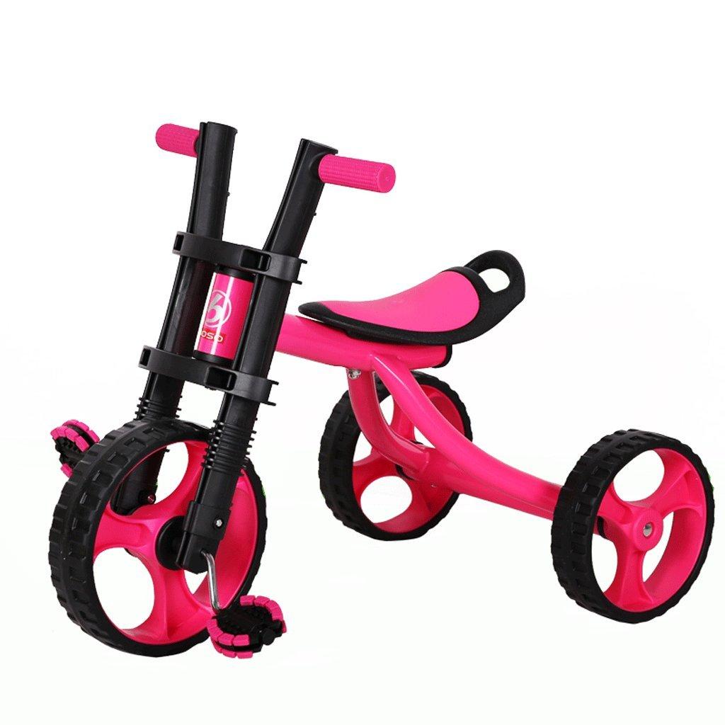子供の三輪車自転車赤ちゃんのバシネットおもちゃの車の子供の自転車2-5歳、紫、赤 ( Color : Purple ) B07CGM1KCW