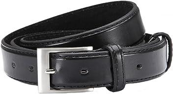Eg-Fashion Eleganter Herren Pu-Leder Gürtel Anzuggürtel 3 cm Breite - Individuell kürzbar - Mit Aufbewahrungbeutel