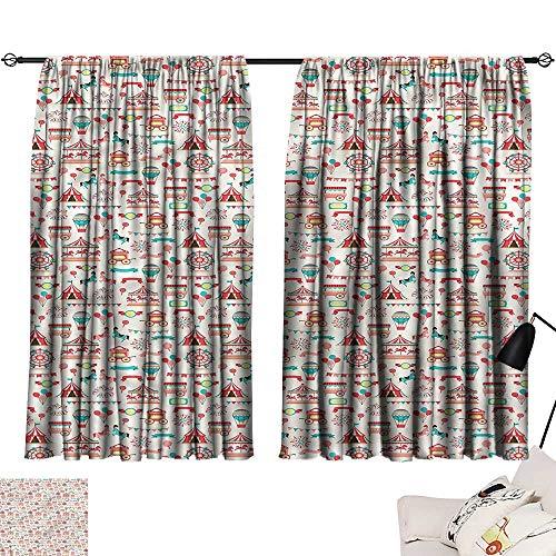 Ediyuneth lace Curtains Circus,Ferris Wheel Carousel Tents 72
