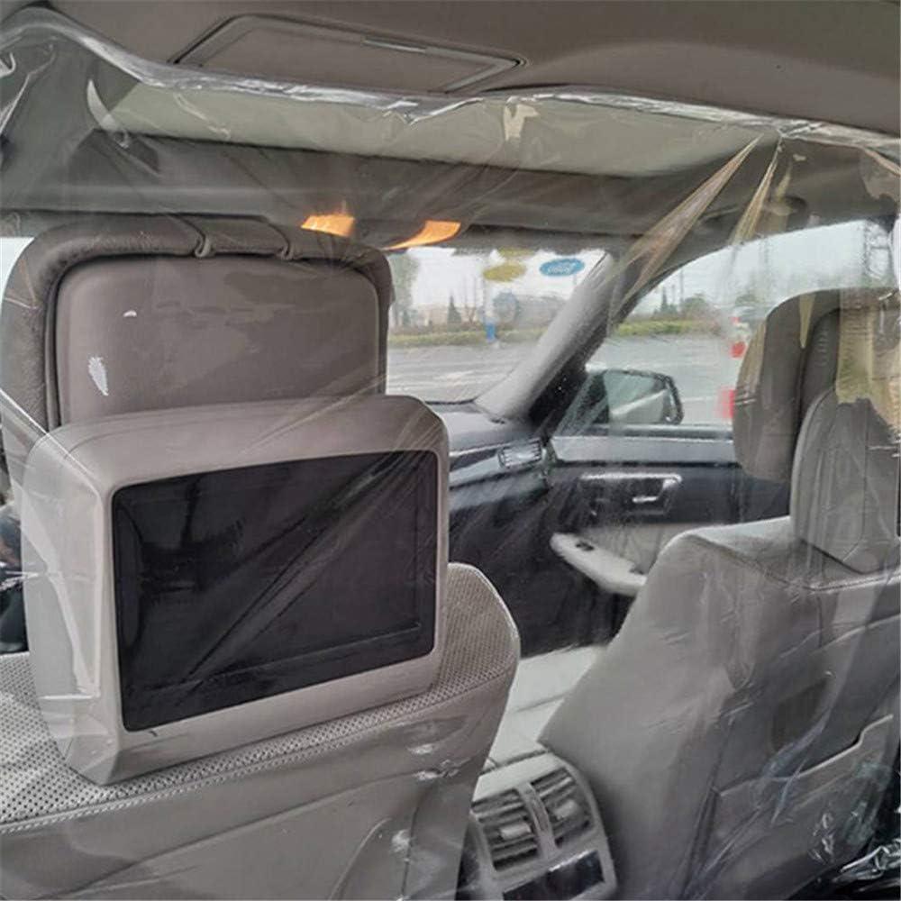 Película Protectora automotriz Cabina de Taxi del automóvil Asiento Delantero Transparente Pantalla de Barrera de partición Completamente Cerrada Protectora Reutilizable para Conductor Pasajero: Amazon.es: Coche y moto
