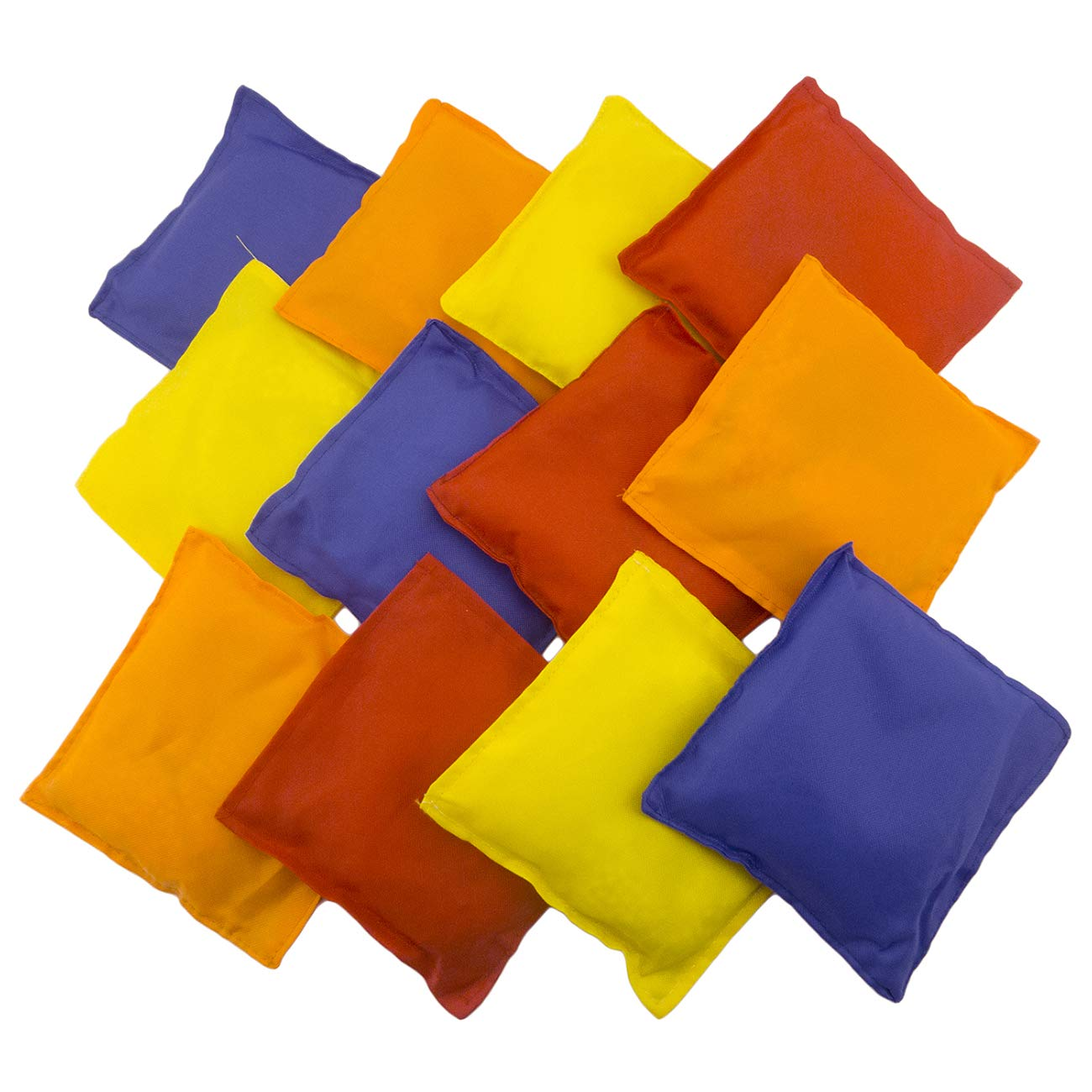 Tytroy Assorted 5'' Primary Color Nylon Bean Bags Carnival Game Toy Corn Hole (12 Pack)