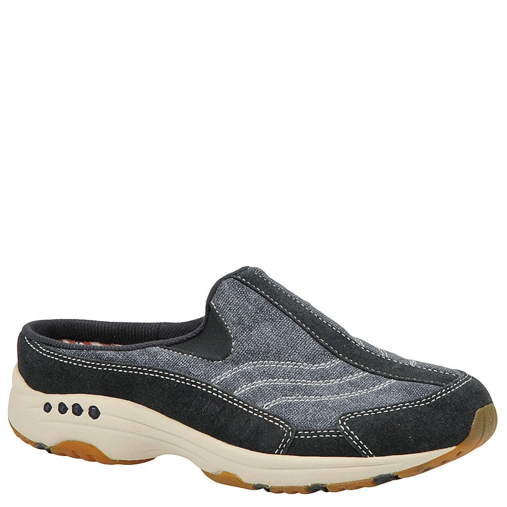 Easy Spirit Womens Traveltime Low Top Slip On, Navy-Dark Blue-Suede, Size 7.0