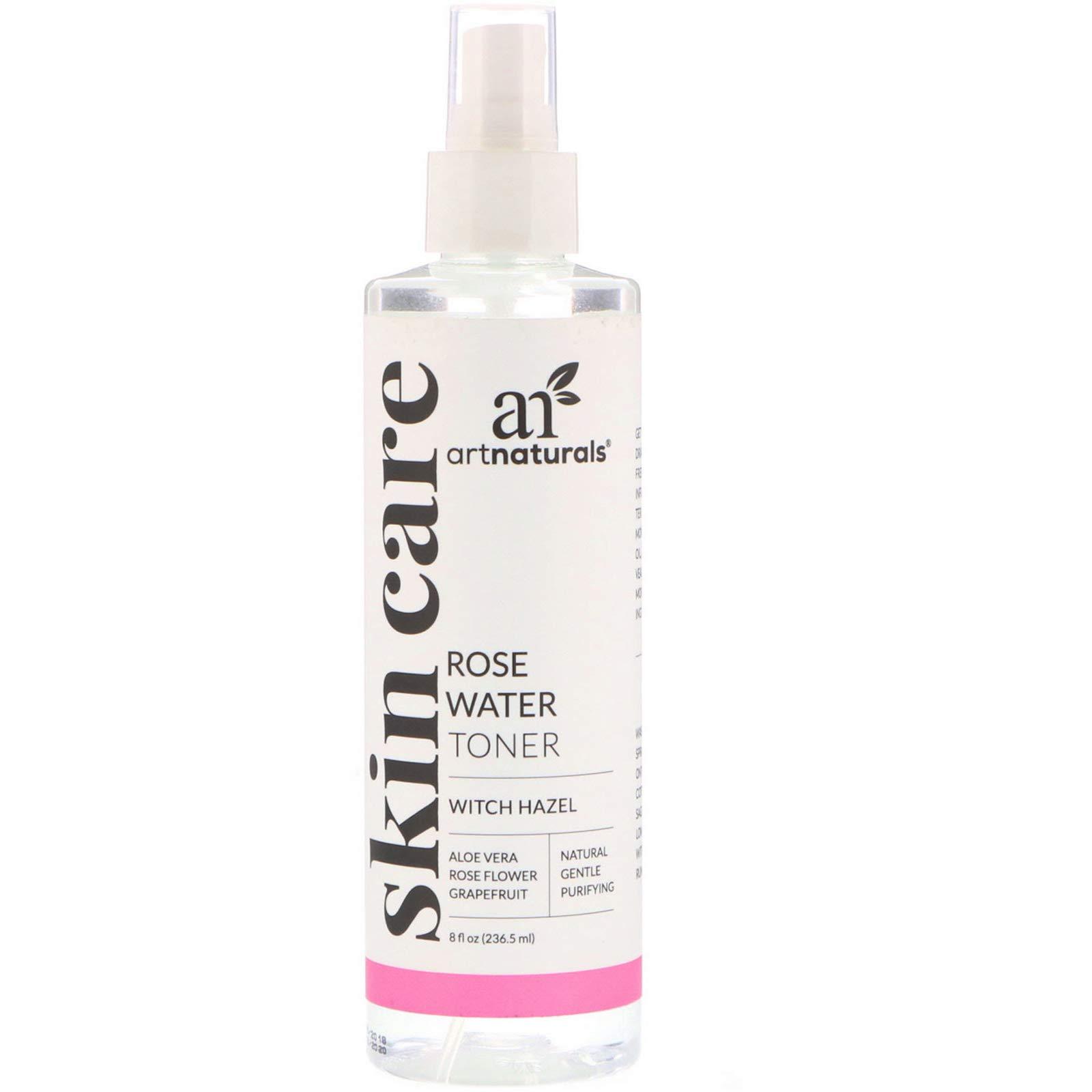 Art Naturals Tónico De Agua De Rosas Y Hamamelis 236,5 ml. Tratamiento Natural