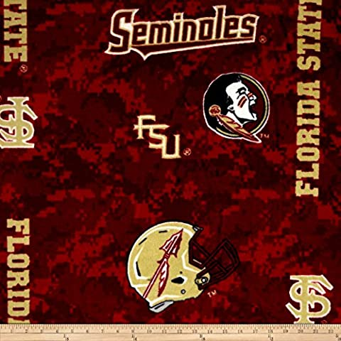 Collegiate Fleece Florida State University Digital Fabric By The Yard - Florida State Fleece Fabric