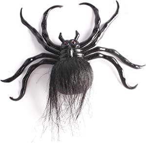 Inxens Large Halloween Black Realistic Fake Spider Halloween Decoration Suction Cup Wall Decor