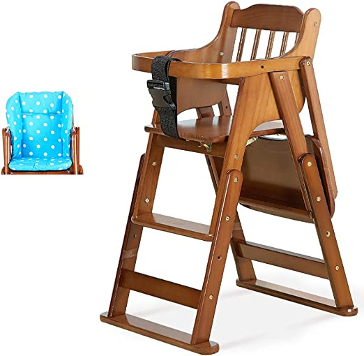 Wooden Baby High Chair Highchair Feeding Home /& Commercial Restaurant Stackable