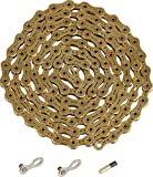 YBN Ti-Nitride Gold 11-speed Chain 116 Links 5.5mm Wide with One Reusable