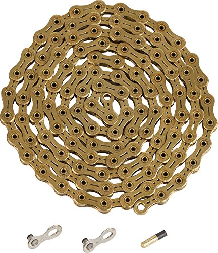 YBN Ti-Nitride Gold 11-speed Chain 116 Links 5.5mm Wide with One Reusable by Ybn