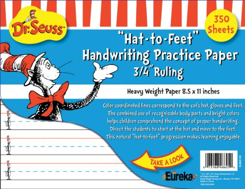 Eureka Cat in the Hat Writing Practice Paper, 350 Sheets (805103) - DISCONTINUED by Manufacturer by Eureka School