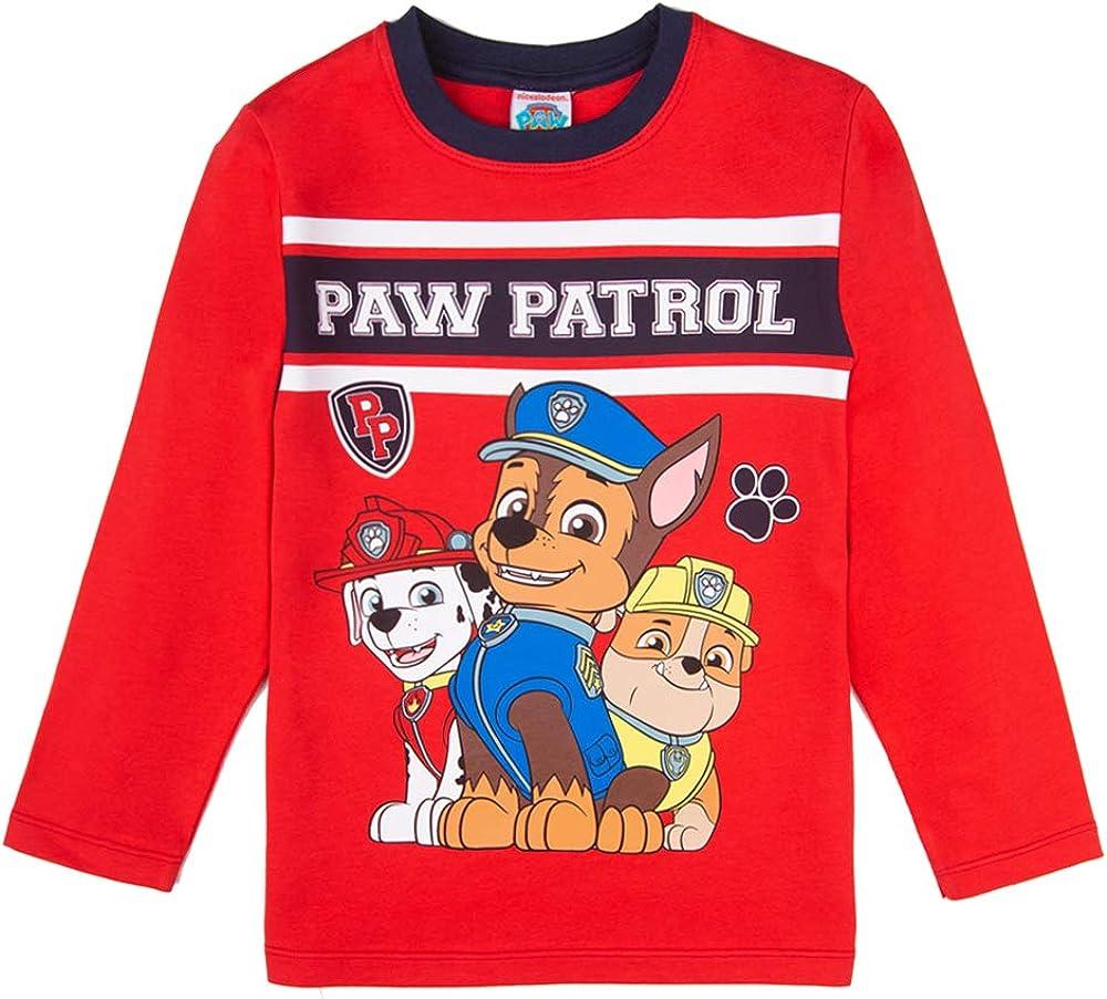 Rosso Manica Lunga Paw Patrol Ragazzo T-Shirt
