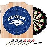 Trademark Gameroom University of Nevada Wood Dart Cabinet Set