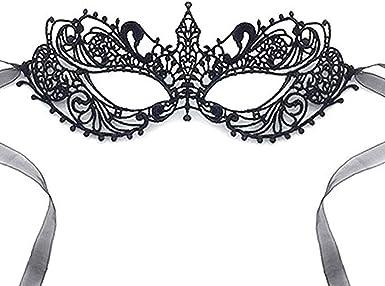 Amazon.com: Máscara de encaje para mujer, diseño clásico ...