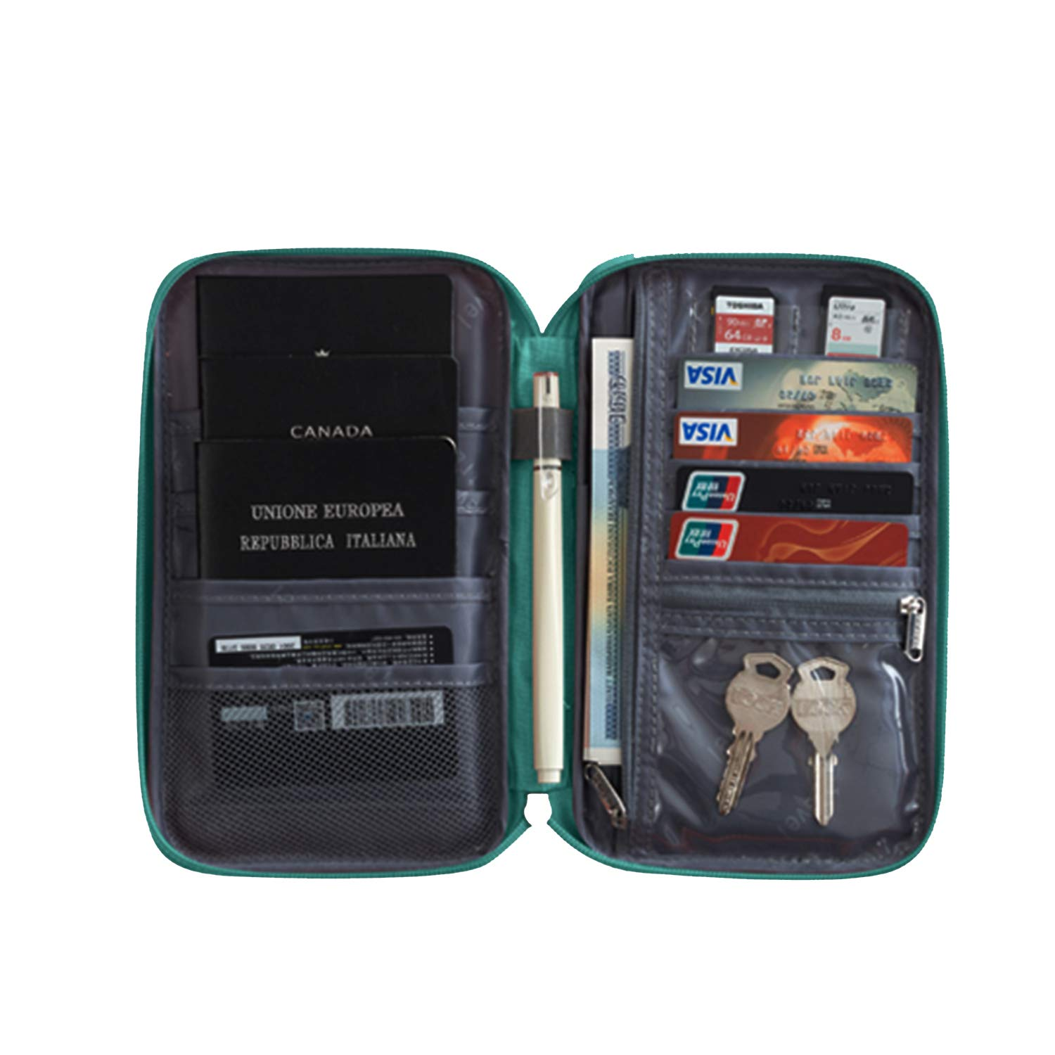 Travel Wallets,Passport Wallets Octto-Air Tickets Storage Package Gray