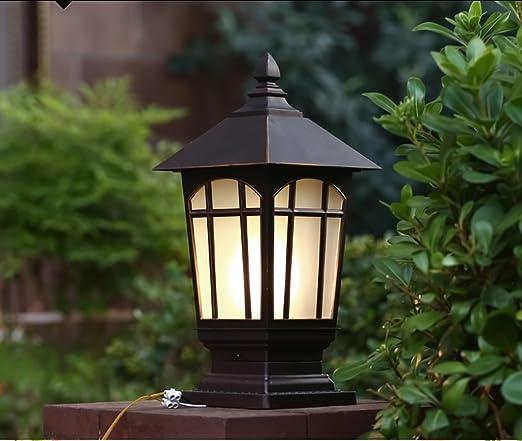 Europeos - Tipo estigma Luces apliques de pared Zona residencial jardín luces impermeables Pon luces luz exterior Baranda puerta de la pared de las luces: Amazon.es: Hogar