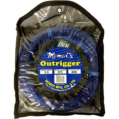 Momoi Outrigger Monofilament Rigging Kit – 400 lbs. Line Test – 100 Yards – Dark Blue
