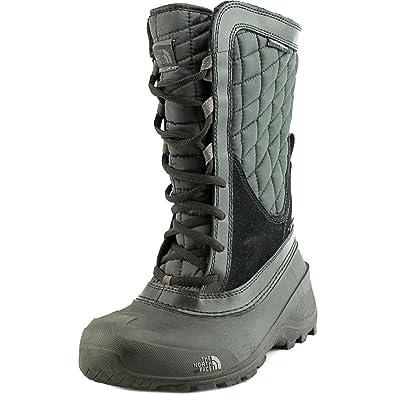 The North Face Thermoball Shellista Boot Girls' TNF Black/Dark Gull Grey 1