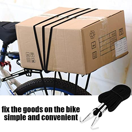 Amazon.com : VGEBY Bike Luggage Strap, Elastic Bungee Cord Straps Bike Luggage Fixed Rope Lashing Strap Tie Down Strap with Hooks(Black) : Sports & Outdoors