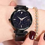 Acnos Black Glass Black dial Magnetic Belt Black Analog Watch for Men and Womne Pack of - 1