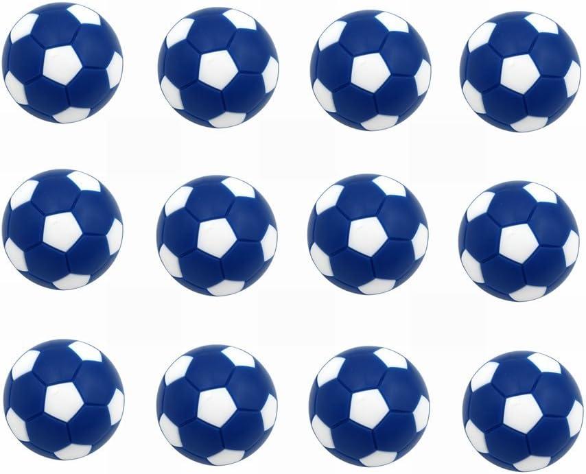 Mesa Fútbol foos Balls Replacements Mini Negro Y Blanco Balones de Fútbol – Juego 12 (Azul y Blanco): Amazon.es: Deportes y aire libre