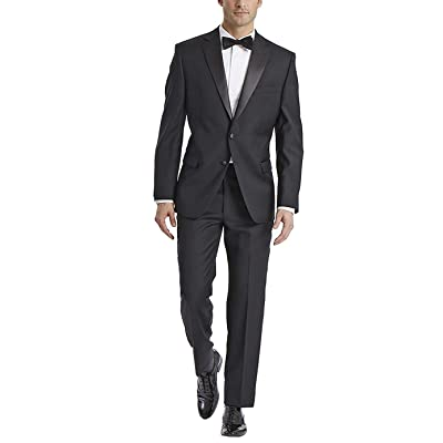 Adam Baker Men's Classic & Slim Fit Two-Piece Notch Lapel Tuxedo Suit at Amazon Men's Clothing store