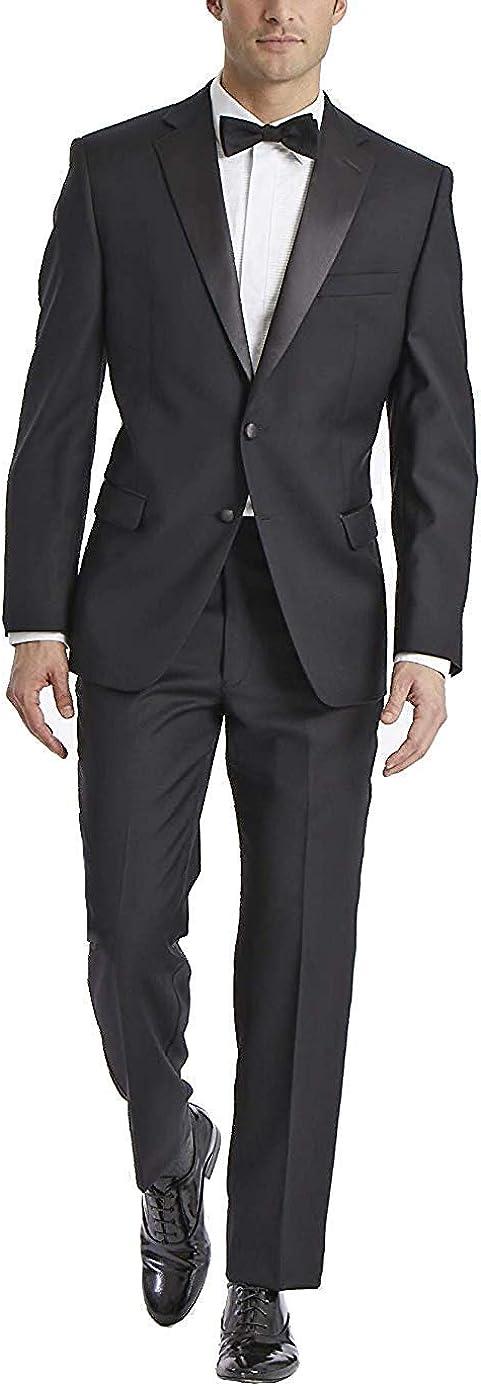 Adam Baker Men's Classic & Slim Fit Two-Piece Notch Lapel Tuxedo Suit