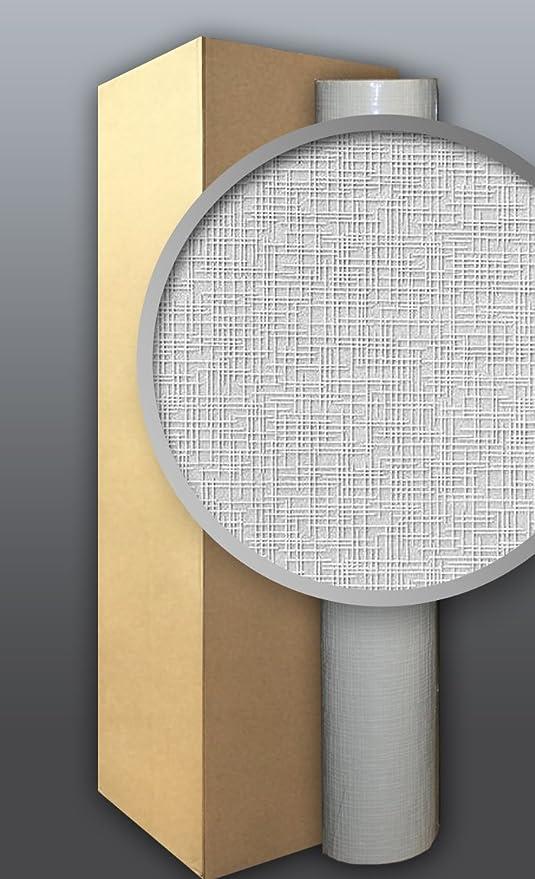 EDEM 350-60 Papel pintado XXL no tejido blanco pintable con textura de tela para