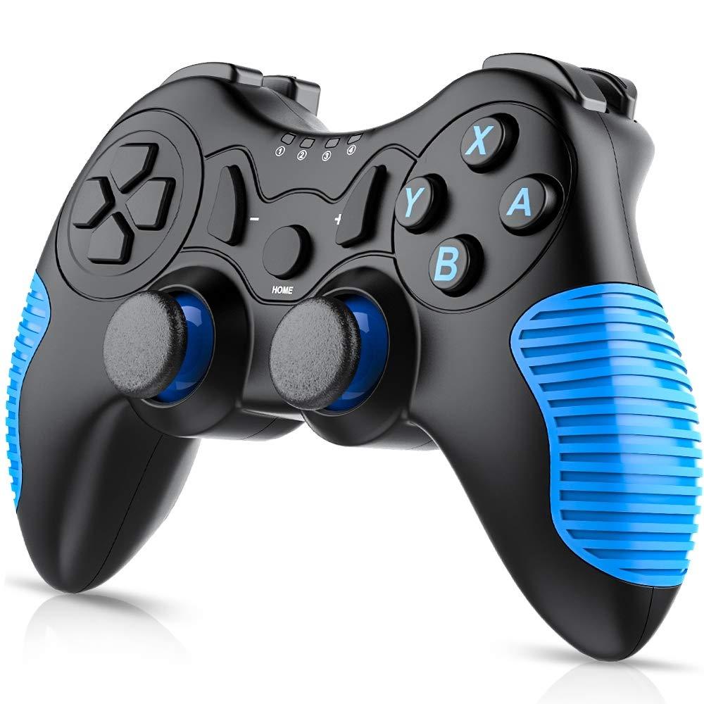 Switch コントローラー 無線 BEBONCOOL Bluetooth 接続 ワイヤレス 任天堂 switch プロコン 対応 デュアルショック Blue