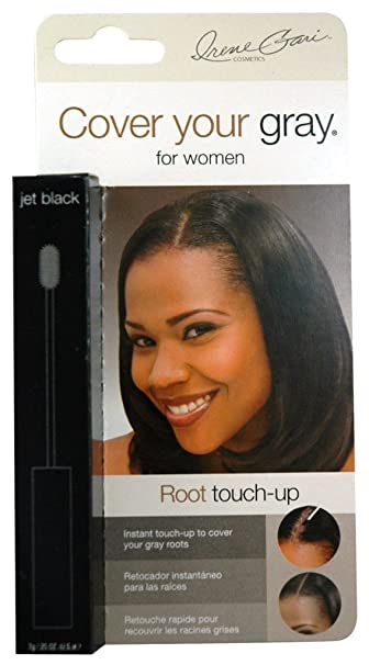 Amazon.com: Cover Your Gray Hair Coloring Root Touch Jet Black .25 ...