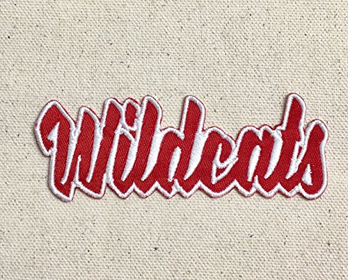 Wildcats - Red/White - Team Mascot - Words/Names - Iron on Applique/Embroidered Patch (Wildcats Applique)