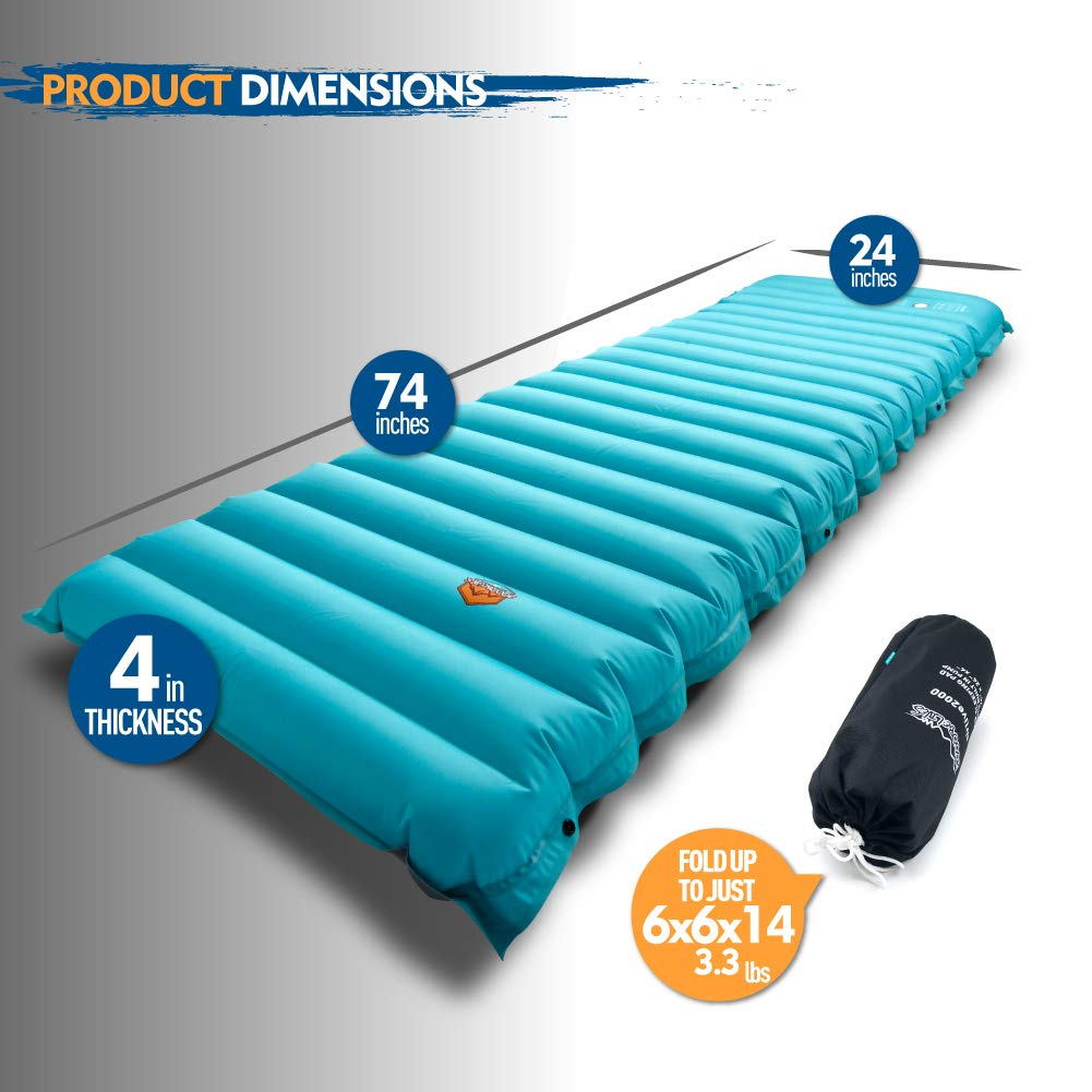 Zooobelives Extra Thickness Inflatable Sleeping Pad With