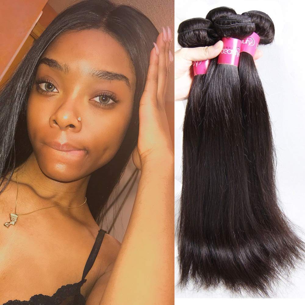 Amazon Malaysian Straight Hair 3 Bundles 10a 100 Unprocessed