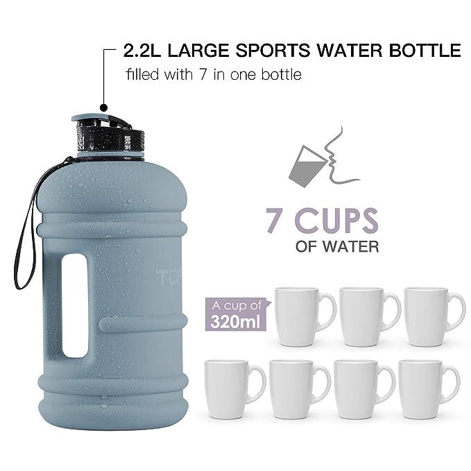 Amazon.com: Botella de agua caliente y fría Tritan, de ...