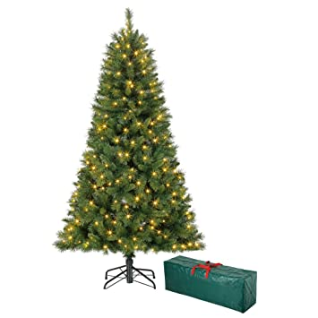 f48f9cd9b599c Polygroup Sapin de Noël Vert Lumineux 150 cm avec sac de rangement ...