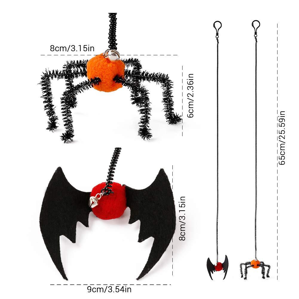 EisEyen 2 Unidades Gato Gatito Gato Set, Juguete Halloween araña ...