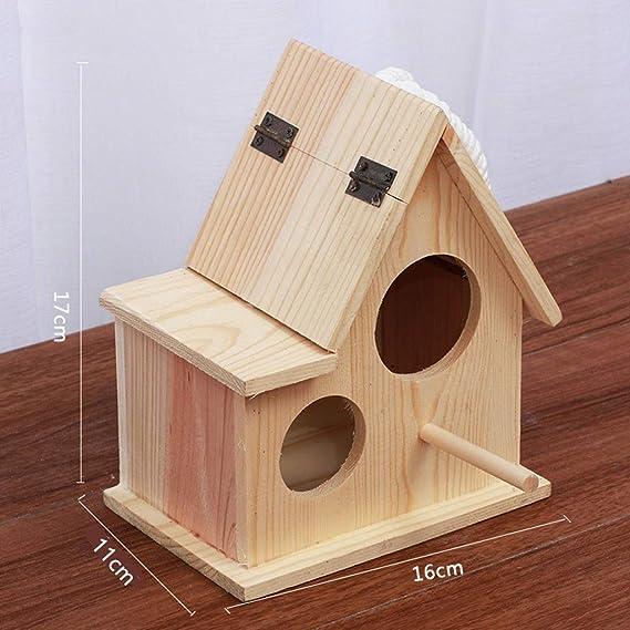 Casa de pájaros para pájaros de Madera Casa de Nido Al Aire Libre ...