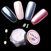 Niome 7 Color Mirror Effect Nail Glitter 1 Box Powder Shell Chrome Pigment Nail Art Decorations 1#