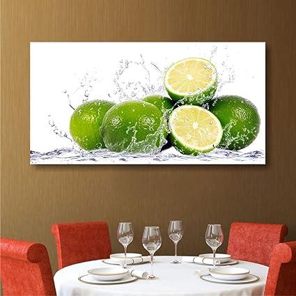 Lime - Quadro Moderno 90 x 45 cm Stampa Tela Canvas XXL | Quadri ...