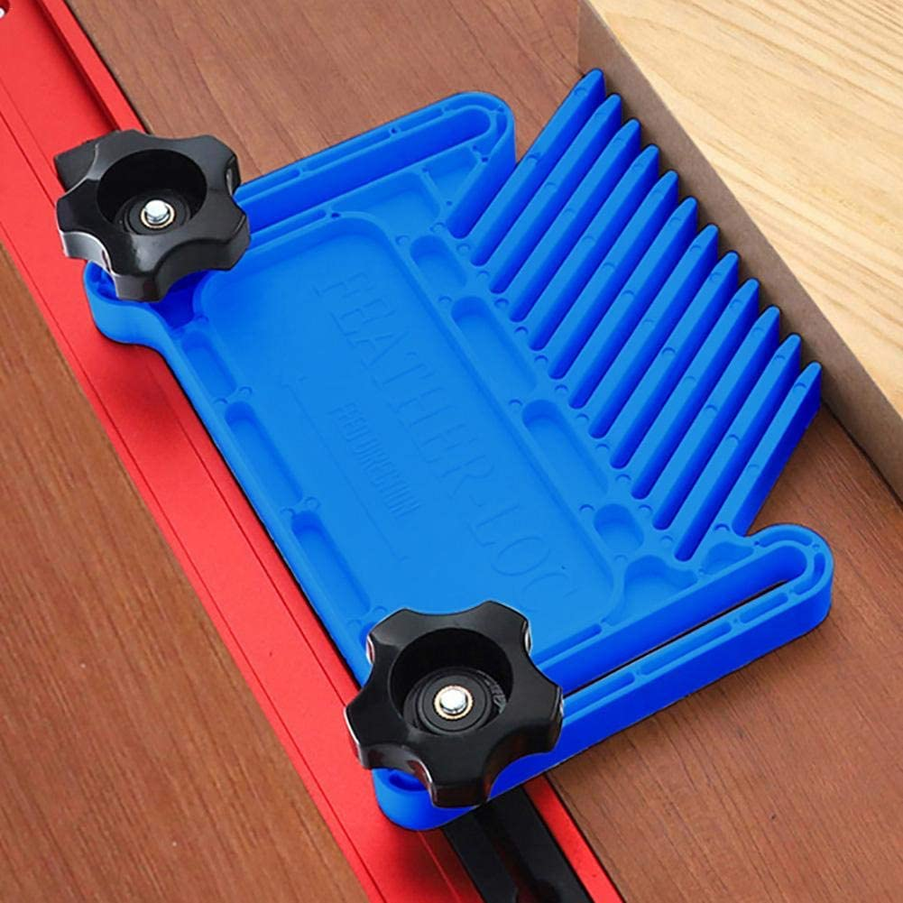 Easy to Install Plastic Feather Loc Board Band Saws ZQYX Featherboards Set Multipurpose Woodworking Safety Board for Table Saws Slide Rail and More Woodworking Stationary Cutting Tools