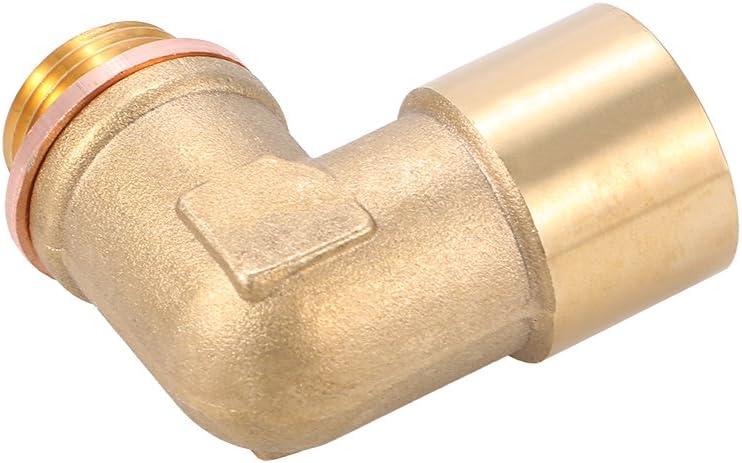 Walmeck 90 /° Angolo Lambda O2 Sensore di Ossigeno Estensore Spacer per Decat Idrogeno Ottone M18x1.5
