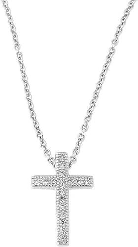 Brilliant 9mm CZ Classic Round Cut Sterling Silver Pave Chain Necklace Pendant