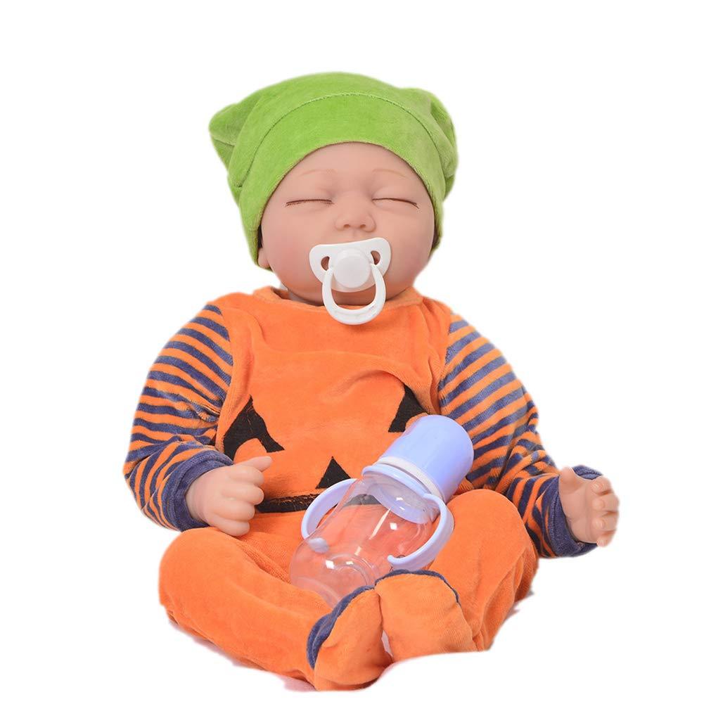 55cm Famiglia Calda Simulazione Neonati Rinati Bambole Reborn Baby Doll Corpo di StoffaToddler Bambolotti Giocattoli Compleanno Natale Regalo,C