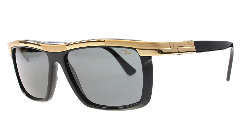 266f555714e7 Amazon.com  Cazal 8024 001SG Shiny Black Gold Grey Lens Sunglasses 60 mm   Clothing