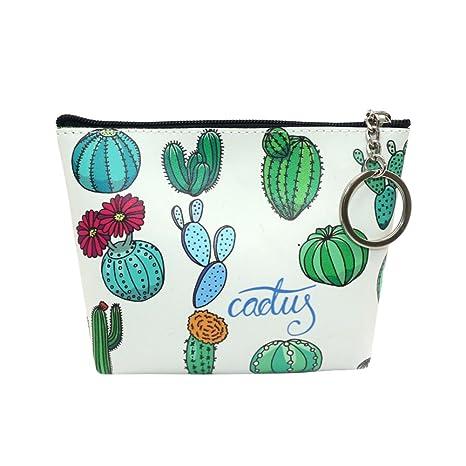 AchidistviQ Moda Cactus Mujeres Niñas Mini Monedero Monedero ...
