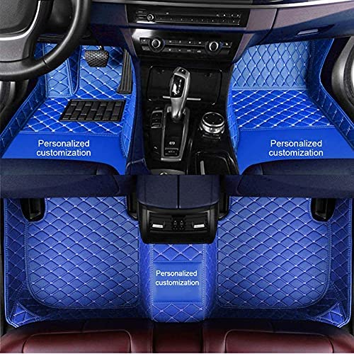 Custom Car Floor Mats for BMW, All Weather Protection for BMW Floor Mats, Waterproof Non-Slip Customize Text or Patterns for BMW X1 X2 X3 X4 X5 X6 X7 1 2 3 4 5 6 7 8 Series Car Mats Blue
