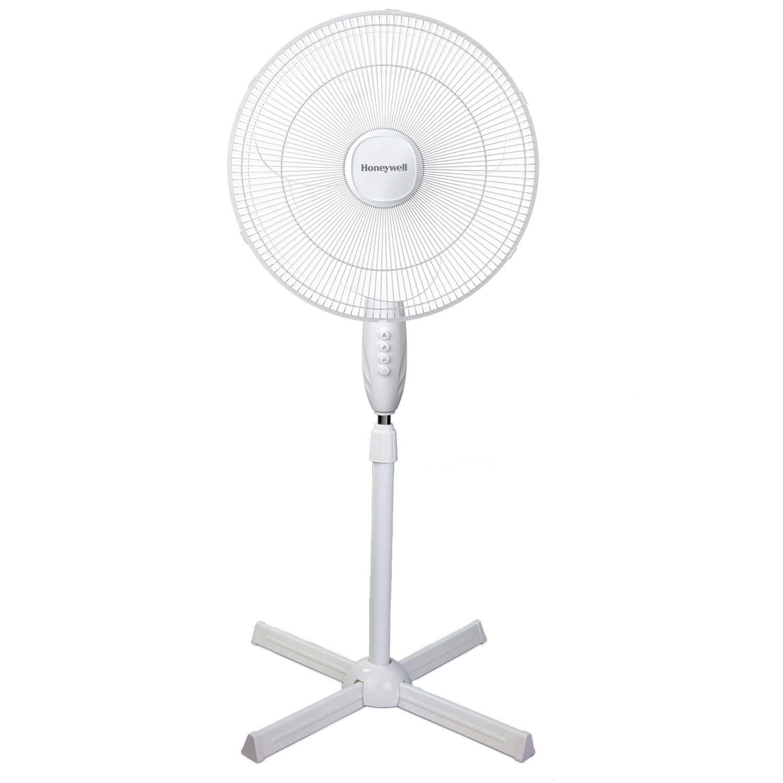 Honeywell Comfort Control Pedestal Fan, White