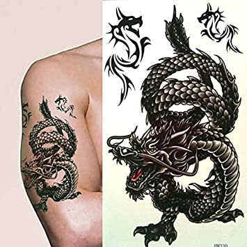 Fat Catz Hommes Garcons Tatouage Temporaire Dragon Chinois