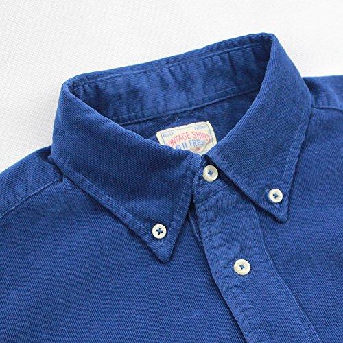 Camisa Bii Para Button Azul Larga Down Free Hombre Manga Casual nABP75xA