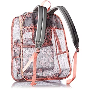 JanSport Unisex Mesh Pack Coral Sparkle Pretty Posey Backpack