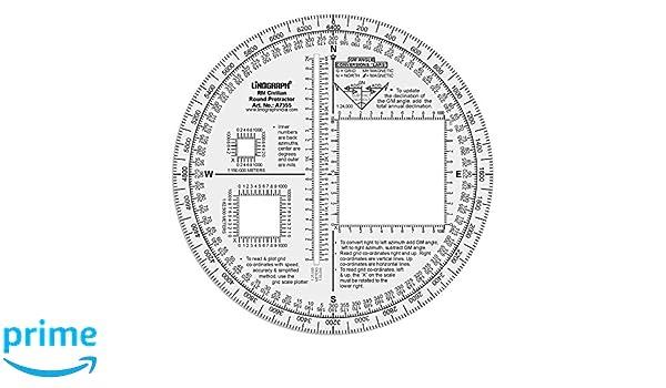 Linograph RM Militar redondo transportador Lars formulado para mm ángulo conversión, color Design#2: Amazon.es: Oficina y papelería