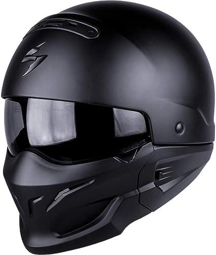 Amazon.es: SCORPION Casco Moto exo-combat, Matt black, negro, M